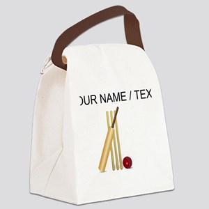 Custom Cricket Wicket Canvas Lunch Bag