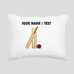 Custom Cricket Wicket Rectangular Canvas Pillow