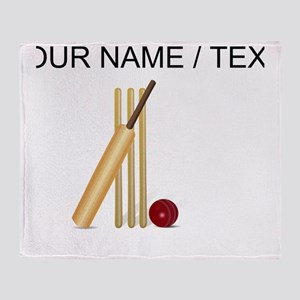 Custom Cricket Wicket Throw Blanket