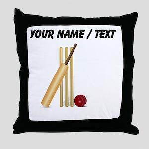 Custom Cricket Wicket Throw Pillow