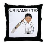 Custom Cricket Player Throw Pillow