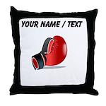 Custom Boxing Glove Throw Pillow