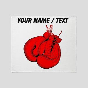 Custom Boxing Gloves Throw Blanket