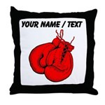 Custom Boxing Gloves Throw Pillow