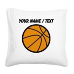 Custom Cartoon Basketball Square Canvas Pillow