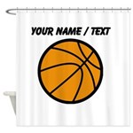 Custom Cartoon Basketball Shower Curtain