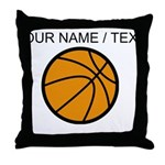 Custom Cartoon Basketball Throw Pillow