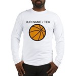 Custom Cartoon Basketball Long Sleeve T-Shirt