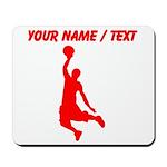 Custom Red Basketball Dunk Silhouette Mousepad