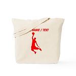 Custom Red Basketball Dunk Silhouette Tote Bag