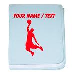 Custom Red Basketball Dunk Silhouette baby blanket