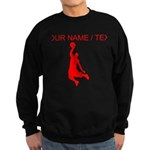 Custom Red Basketball Dunk Silhouette Sweatshirt