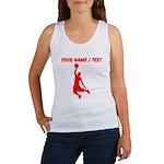 Custom Red Basketball Dunk Silhouette Tank Top