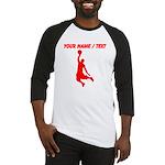 Custom Red Basketball Dunk Silhouette Baseball Jer