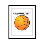 Custom Orange Basketball Framed Panel Print