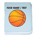 Custom Orange Basketball baby blanket