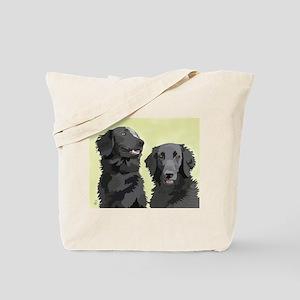 2 flatcoats Tote Bag