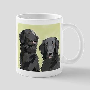2 flatcoats Mug