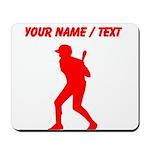 Custom Red Baseball Batter Mousepad
