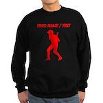 Custom Red Baseball Batter Sweatshirt