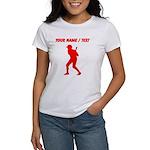 Custom Red Baseball Batter T-Shirt