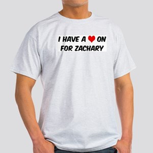 Heart on for Zachary Ash Grey T-Shirt