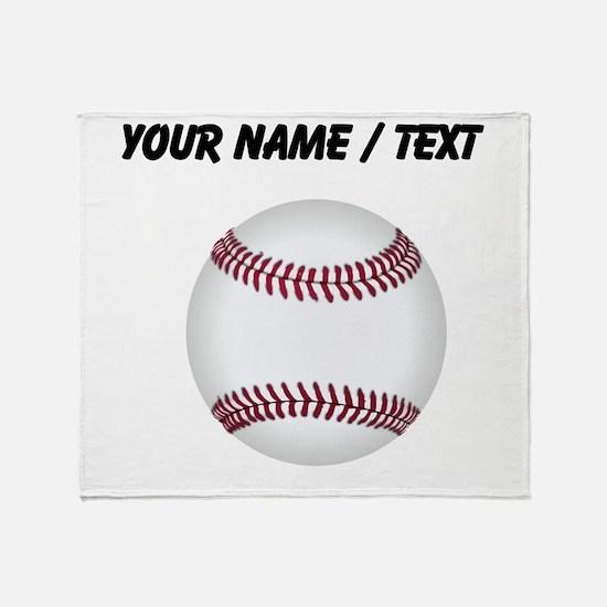 Custom Baseball Throw Blanket