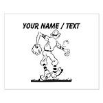 Custom Old School Cartoon Baseball Player Posters
