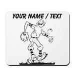 Custom Old School Cartoon Baseball Player Mousepad