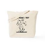 Custom Old School Cartoon Baseball Player Tote Bag