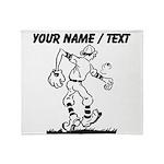 Custom Old School Cartoon Baseball Player Throw Bl