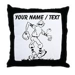 Custom Old School Cartoon Baseball Player Throw Pi