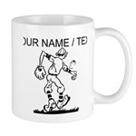 Custom Old School Cartoon Baseball Player Mug