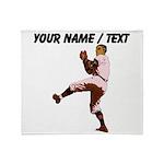 Custom Retro Baseball Pitcher Throw Blanket