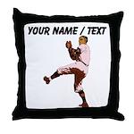 Custom Retro Baseball Pitcher Throw Pillow