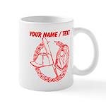 Custom Red Baseball Icon Mug