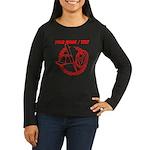 Custom Red Baseball Icon Long Sleeve T-Shirt