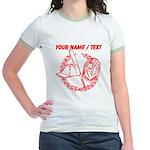 Custom Red Baseball Icon T-Shirt