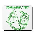 Custom Green Baseball Icon Mousepad