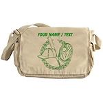 Custom Green Baseball Icon Messenger Bag