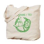 Custom Green Baseball Icon Tote Bag