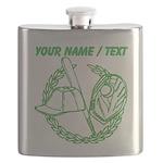 Custom Green Baseball Icon Flask
