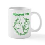 Custom Green Baseball Icon Mug