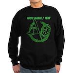 Custom Green Baseball Icon Sweatshirt
