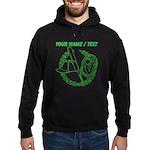Custom Green Baseball Icon Hoodie