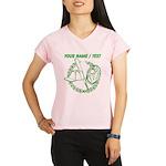 Custom Green Baseball Icon Peformance Dry T-Shirt