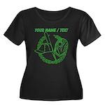 Custom Green Baseball Icon Plus Size T-Shirt