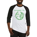 Custom Green Baseball Icon Baseball Jersey