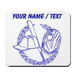 Custom Blue Baseball Icon Mousepad
