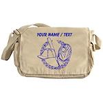 Custom Blue Baseball Icon Messenger Bag